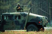 Marine Humvee assault vehicle, Camp Lejeune, North Carolina..