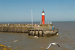 Watchet Somerset Uk. Harbour harbor wall and Lighthouse. 2012, 2010s