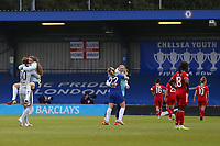 2nd May 2021; Kingsmeadow, London, England; The final whistle celebrations after the UEFA Womens Champions League Semi Final game between Chelsea and Bayern Munich at Kingsmeadow