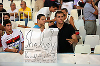 Valencia, Spain. Thursday 19 September 2013<br /> Pictured: Supporters.<br /> Re: UEFA Europa League game against Valencia C.F v Swansea City FC, at the Estadio Mestalla, Spain,