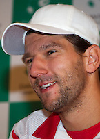 11-sept.-2013,Netherlands, Groningen,  Martini Plaza, Tennis, DavisCup Netherlands-Austria, Training,   Jurgen Melzer (AUT)<br /> Photo: Henk Koster
