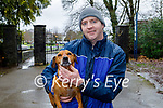 Rockie the dog been taking for a walk by Padraig O'Brien in the Killarney National park on Friday.
