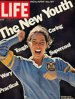 LIFE cover, New Youth and Title IX, Fall 1977. Photo by John G. Zimmerman.