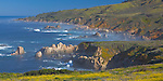 Garrapata State Park, CA<br /> View of rocky coast line and surf at Garrapata State Park at Big Sur