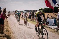 Luke Durbridge (AUS/Mitchelton Scott) on pavé sector #6<br /> <br /> Stage 9: Arras Citadelle > Roubaix (154km)<br /> <br /> 105th Tour de France 2018<br /> ©kramon