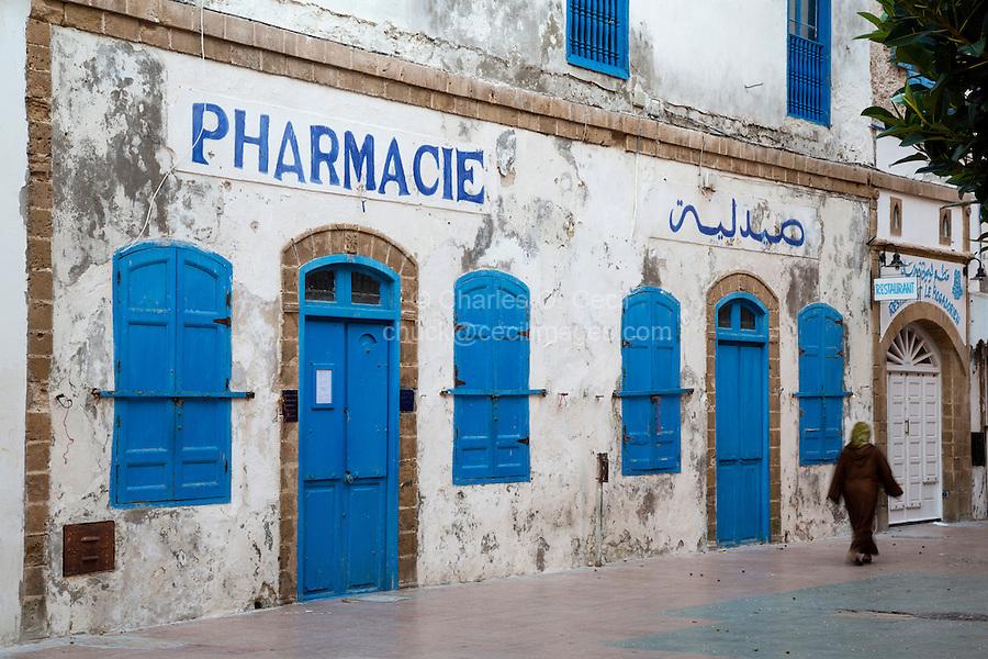 Essaouira, Morocco.  Pharmacy in the Medina, before opening hours.