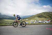 Kevin van Melsen (BEL/Wanty-Gobert) descending the Horquette d'Ancizan<br /> <br /> Stage 12: Toulouse to Bagnères-de-Bigorre(209km)<br /> 106th Tour de France 2019 (2.UWT)<br /> <br /> ©kramon