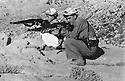 Iraq 1958?.Training of Masoud Barzani with Mustafa Bag.Irak 1958.Masoud Barzani s'entrainant au tir avec Mustafa bag