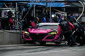 #86 Meyer Shank Racing w/Curb-Agajanian Acura NSX GT3, GTD: Mario Farnbacher, Matt McMurry pit stop.