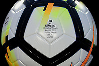 Cary, N.C. - Tuesday March 27, 2018: NIKE ball during an International friendly game between the men's national teams of the United States (USA) and Paraguay (PAR) at Sahlen's Stadium at WakeMed Soccer Park.