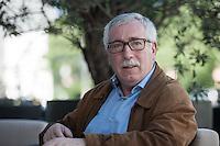 Der Generalsekretaer der spanischen Gewerkschaft Confederacion Sindical de Comisiones Obreras (CC.OO), Ignacio Fernandez Toxo, am 25. Mai 2014 in Berlin. Ignacio Fernandez Toxo ist seit Mai 2011 der Praesident des  Europaeischen Gewerkschaftsbund (EGB), englisch European Trade Union Confederation, ETUC. Der EGB/ETUC ist der europaeische Gewerkschaftsdachverband, in ihm haben sich nationale Gewerschaftsdachverbaende von 39 europaeischen Staaten zusammengschlossen.<br />25.5.2014, Berlin<br />Copyright: Christian-Ditsch.de<br />[Inhaltsveraendernde Manipulation des Fotos nur nach ausdruecklicher Genehmigung des Fotografen. Vereinbarungen ueber Abtretung von Persoenlichkeitsrechten/Model Release der abgebildeten Person/Personen liegen nicht vor. NO MODEL RELEASE! Don't publish without copyright Christian-Ditsch.de, Veroeffentlichung nur mit Fotografennennung, sowie gegen Honorar, MwSt. und Beleg. Konto: I N G - D i B a, IBAN DE58500105175400192269, BIC INGDDEFFXXX, Kontakt: post@christian-ditsch.de]