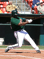 April 21, 2005:  Ernie Young of the Buffalo Bisons during a game at Dunn Tire Park in Buffalo, NY.  Buffalo is the International League Triple-A affiliate of the Cleveland Indians.  Photo by:  Mike Janes/Four Seam Images