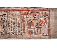 Ancient Egyptian Book of the Dead papyrus  - Scribe of Thebes Necropolis Nebhepet Book of the Dead, 21st Dynasty (1076-943C).Turin Egyptian Museum.  White background