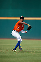 Jackson Mayo (11) of The Bolles School in St. Johns, FL during the Perfect Game National Showcase at Hoover Metropolitan Stadium on June 18, 2020 in Hoover, Alabama. (Mike Janes/Four Seam Images)