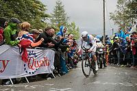 Bob Jungels (LUX/Quick-Step Floors) up Mount Fløyen<br /> <br /> Men Elite Individual Time Trial<br /> <br /> UCI 2017 Road World Championships - Bergen/Norway