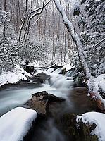Winter waterfall on Rocky Fork
