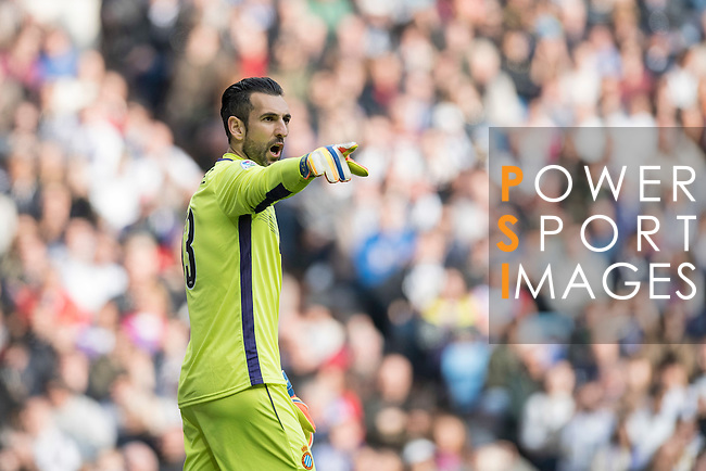 Goalkeeper Diego Lopez of RCD Espanyol during the match Real Madrid vs RCD Espanyol, a La Liga match at the Santiago Bernabeu Stadium on 18 February 2017 in Madrid, Spain. Photo by Diego Gonzalez Souto / Power Sport Images