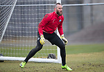 St Johnstone Training…27.03.18<br />Alan Mannus pictured during training this morning at McDiarmid Park ahead of tomorrow's game against Hamilton Accies<br />Picture by Graeme Hart.<br />Copyright Perthshire Picture Agency<br />Tel: 01738 623350  Mobile: 07990 594431