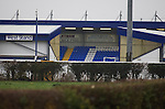 Chester City 1 Altrincham 3, 21/11/2009. Deva Stadium, Football Conference. The Deva Stadium, Chester, home of Chester City Football Club, pictured from behind the West Stand before kick-off in the club's Blue Square Premier fixture against Cheshire rivals Altrincham. The visitors won by three goals to one. Chester were in administration at the start of the season and were penalised 25 points before the season began. Photo by Colin McPherson.