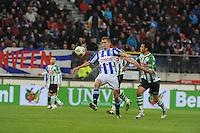 VOETBAL: HEERENVEEN: Abe Lenstra Stadion, 4-11-2012, SC Heerenveen - PEC Zwolle, Alfreð Finnbogason (#11 | SCH), Bram van Polen (#)2 | PEC Zwolle, Eindstand 2-0, ©foto Martin de Jong
