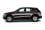 Car Driver side profile view of a 2016 Audi Q5 5 Door Suv Side View