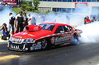 May 22, 2011; Topeka, KS, USA: NHRA pro stock driver V. Gaines during the Summer Nationals at Heartland Park Topeka. Mandatory Credit: Mark J. Rebilas-