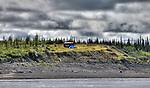 Cabin overlooking Mackenzie River