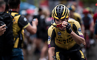 Primoz Roglic (SVK/Jumbo-Visma) at the finish<br /> <br /> Stage 8: Valls to Igualada (167km)<br /> La Vuelta 2019<br /> <br /> ©kramon