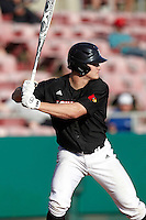Louisville Cardinals outfielder Adam Engel #10 at bat during a game against the Illinois Fighting Illini at the Big Ten/Big East Challenge at Al Lang Stadium on February 18, 2012 in St. Petersburg, Florida.  (Mike Janes/Four Seam Images)