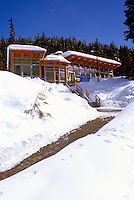 The Nordic Center / Centre Day Lodge at Whistler Olympic Park - Site of Vancouver 2010 Winter Games, Whistler Resort, British Columbia, Canada