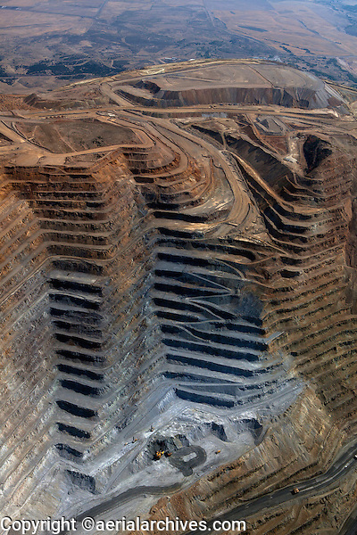 aerial photograph of the Bingham Canyon Open Pit Copper Mine, Utah