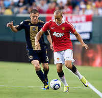 Garbriel Obertan, Jordan Harvey. Manchester United defeated Philadelphia Union, 1-0.