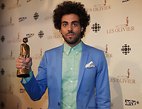MONTREAL, CANADA - File - Adib Alkhalidey<br /> attend the OLIVIER Gala, May 12, 2013.<br /> <br /> Photo :  Agence Quebec Presse