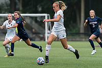NEWTON, MA - AUGUST 29: Ella Richards #22 of Boston College dribbles during a game between University of Connecticut and Boston College at Newton Campus Soccer Field on August 29, 2021 in Newton, Massachusetts.