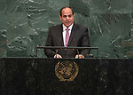 Opening of GA 72 2017 PM<br /> <br /> His Excellency Abdel Fattah Al Sisi, President of the Arab Republic of Egypt