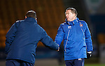 St Johnstone v Kilmarnock....09.01.16  Scottish Cup  McDiarmid Park, Perth<br /> Gary Locke shakes hands with Tommy Wright at full time<br /> Picture by Graeme Hart.<br /> Copyright Perthshire Picture Agency<br /> Tel: 01738 623350  Mobile: 07990 594431