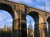 Viadukt in Clausen, Luxemburg-City, Luxemburg, Europa<br /> Viaduct in Clausen, Luxembourg City, Europe