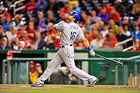 6 September 2011: Los Angeles Dodgers outfielder Andre Ethier in action against the Washington Nationals at Nationals Park in Washington, District of Columbia. The Dodgers defeated the Nationals 7-3 to take the second game of their 4-game series. Mandatory Credit: Ed Wolfstein Photo