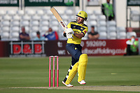 D'Arcy Short hits 4 runs for Hampshire during Essex Eagles vs Hampshire Hawks, Vitality Blast T20 Cricket at The Cloudfm County Ground on 11th June 2021
