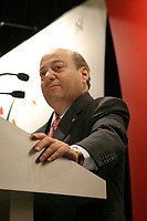 April 20, 2003, Montreal, Quebec, Canada.<br /> <br /> y DR. FRANCESCO BELLINI, CHAIRMAN AND CHIEF EXECUTIVE OFFICER,  NEUROCHEM INC., adress the BOARD OF TRADE OF METROPOLITAN  MONTREAL BUSINESS LUNCHEON, April 20, 2003<br /> <br /> <br /> Mandatory Credit: Photo by Pierre Roussel- Images Distribution. (©) Copyright 2004 by Pierre Roussel