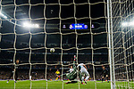 Goalkeeper Keylor Navas of Real Madrid fails to save the ball shot by Adrien Rabiot of Paris Saint Germain during the UEFA Champions League 2017-18 Round of 16 (1st leg) match between Real Madrid vs Paris Saint Germain at Estadio Santiago Bernabeu on February 14 2018 in Madrid, Spain. Photo by Diego Souto / Power Sport Images