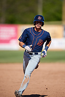 Bowling Green Hot Rods center fielder Josh Lowe (18) runs the bases during a game against the Beloit Snappers on May 7, 2017 at Pohlman Field in Beloit, Wisconsin.  Bowling Green defeated Beloit 6-2.  (Mike Janes/Four Seam Images)