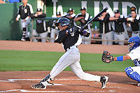 Luis Jean (26) of the Grand Junction Rockies in action against the Ogden Raptors during Opening Night of the Pioneer League Season on June 16, 2014 at Lindquist Field in Ogden, Utah. (Stephen Smith/Four Seam Images)