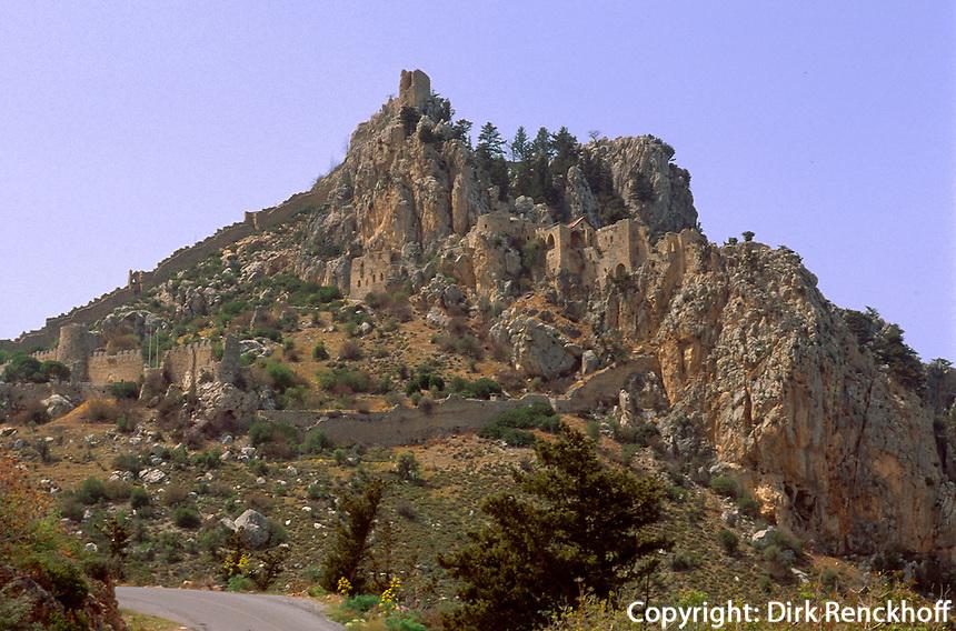 Zypern (Nord), Burg St. Hilarion bei Girne, 12. Jh.