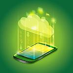 Illustrative image of mobile phone representing cloud computing