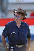 Sept. 2, 2011; Claremont, IN, USA: NHRA former top fuel dragster driver Larry Dixon Sr during qualifying for the US Nationals at Lucas Oil Raceway. Mandatory Credit: Mark J. Rebilas-