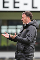 Head coach Hamide Lamara of Standard pictured before  a female soccer game between Oud Heverlee Leuven and Standard femina de liege on the 5 th matchday of play off 1 in the 2020 - 2021 season of Belgian Womens Super League , saturday 8 th of May 2021  in Heverlee , Belgium . PHOTO SPORTPIX.BE | SPP | SEVIL OKTEM