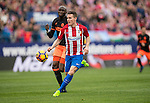 Kevin Gameiro of Atletico de Madrid runs with the ball while Eliaquim Hans Mangala of Valencia CF is in pursuit during the match Atletico de Madrid vs Valencia CF, a La Liga match at the Estadio Vicente Calderon on 05 March 2017 in Madrid, Spain. Photo by Diego Gonzalez Souto / Power Sport Images