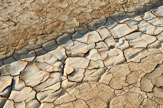 cracked mud in the Bardena Blanca  Bardenas Reales de Navarra Natural Park. A UNESCO World Heritage Site