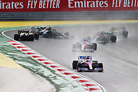 15th November 2020; Istanbul Park, Istanbul, Turkey; FIA Formula One World Championship 2020, Grand Prix of Turkey, Race Day; At the Start, 18 Lance Stroll CAN, BWT Racing Point F1 Team, 11 Sergio Perez MEX, BWT Racing Point F1 Team, 44 Lewis Hamilton GBR, Mercedes-AMG Petronas Formula One Team, 31 Esteban Ocon FRA, Renault DP World F1 Team, as 77 Valtteri Bottas FIN, Mercedes-AMG Petronas Formula One Team spins off, 3 Daniel Ricciardo AUS, Renault DP World F1 Team, Istanbul Turkey *** Motorsports FIA Formula One World Championship 2020, Grand Prix of Turkey, Start, 18 Lance Stroll CAN, BWT Racing Point F1 Team , 11 Sergio Perez MEX, BWT Racing Point F1 Team , 44 Lewis Hamilton GBR, Mercedes AMG Petronas Formula One Team , 31 Esteban Ocon FRA, Renault DP World F1 Team , 77 Valtteri Bottas FIN, Mercedes AMG Petronas Formula One Team , 3 Daniel Ricciardo AUS, Renault DP World F1 Team